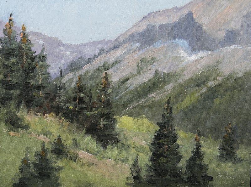 """Rocky Mountain High"" original fine art by Bonnie Bowne"