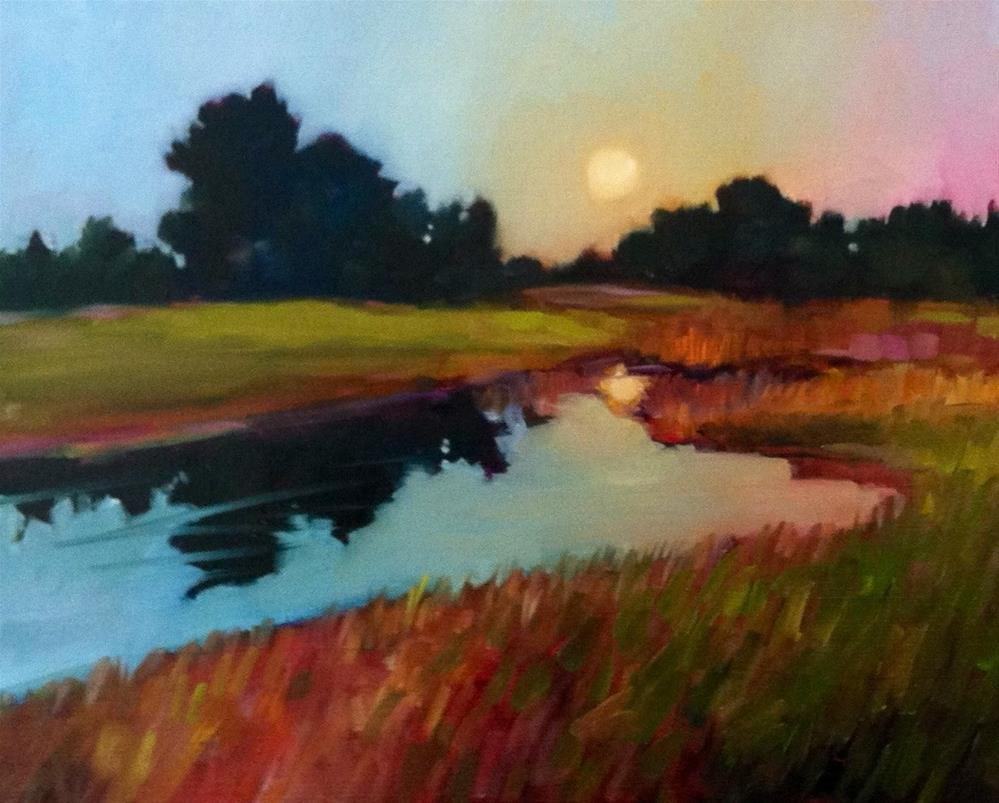 """Dawn on the Course"" original fine art by Libby Anderson"