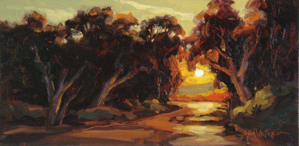 """Etched in Amber"" original fine art by Erin Dertner"