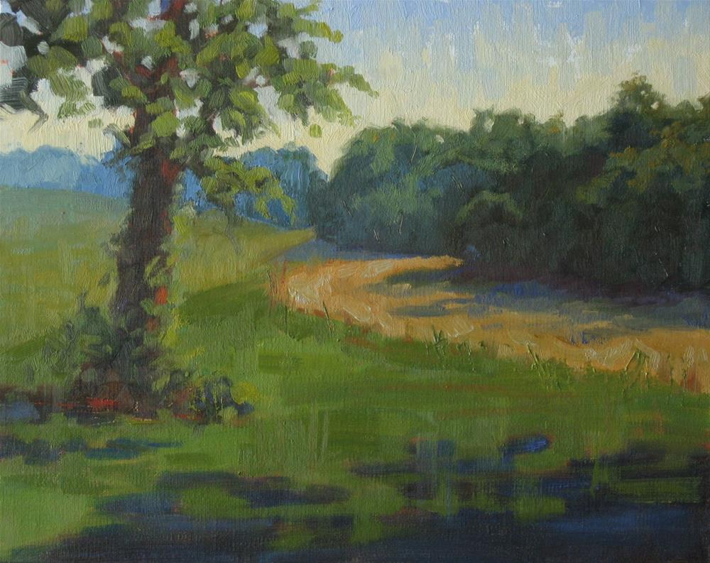 """Dusk in Kentucky 10x8 oil"" original fine art by Claudia Hammer"