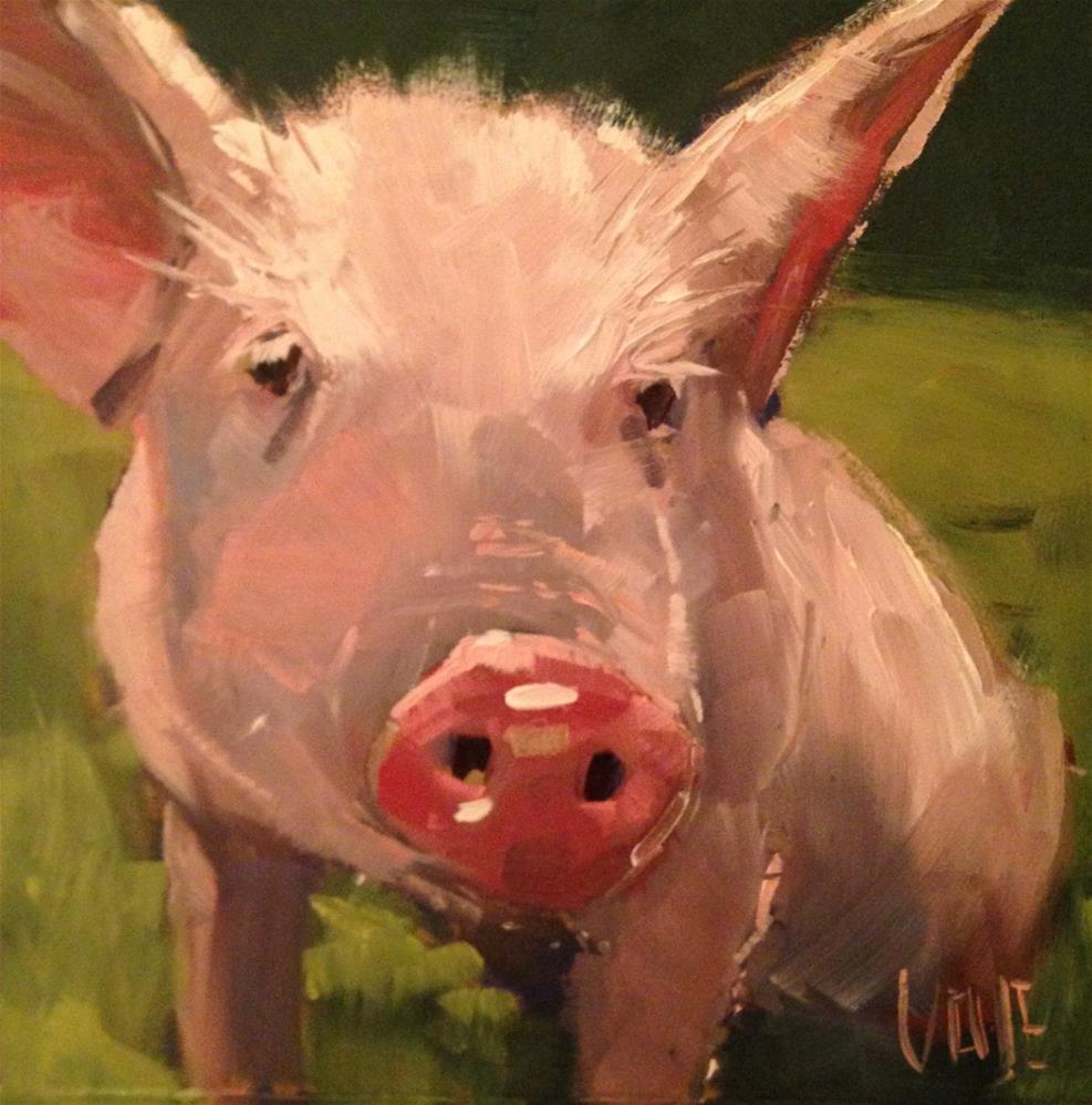 """#126 Pig Pen"" original fine art by Patty Voje"