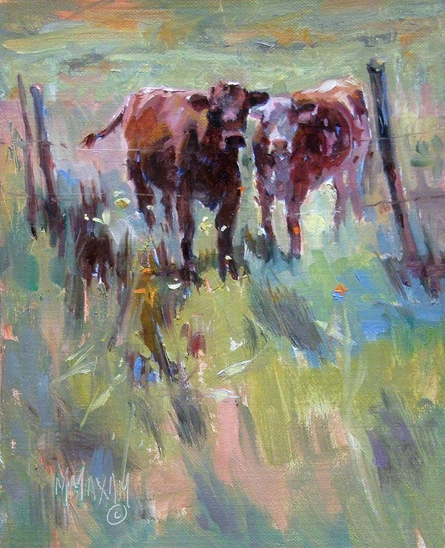 """Pasture Pals"" original fine art by Mary Maxam"