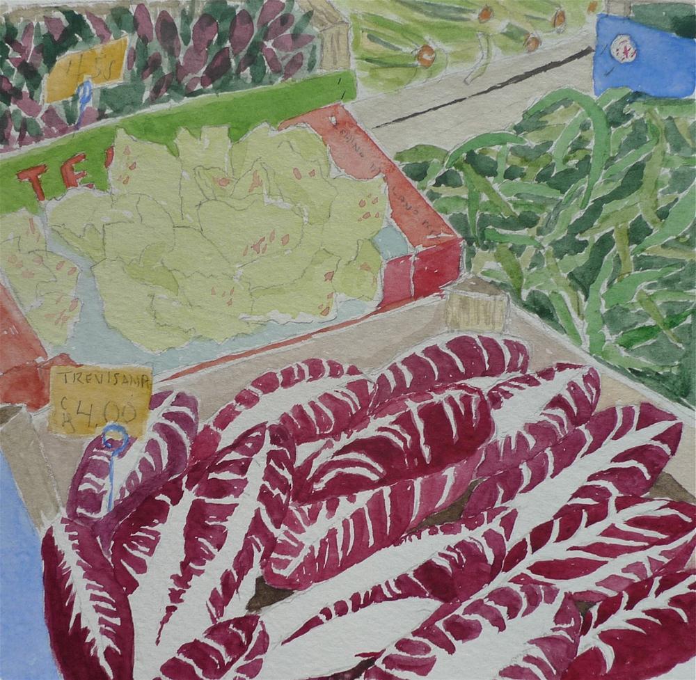 """Trevisana Lettuce"" original fine art by Dana Richards"