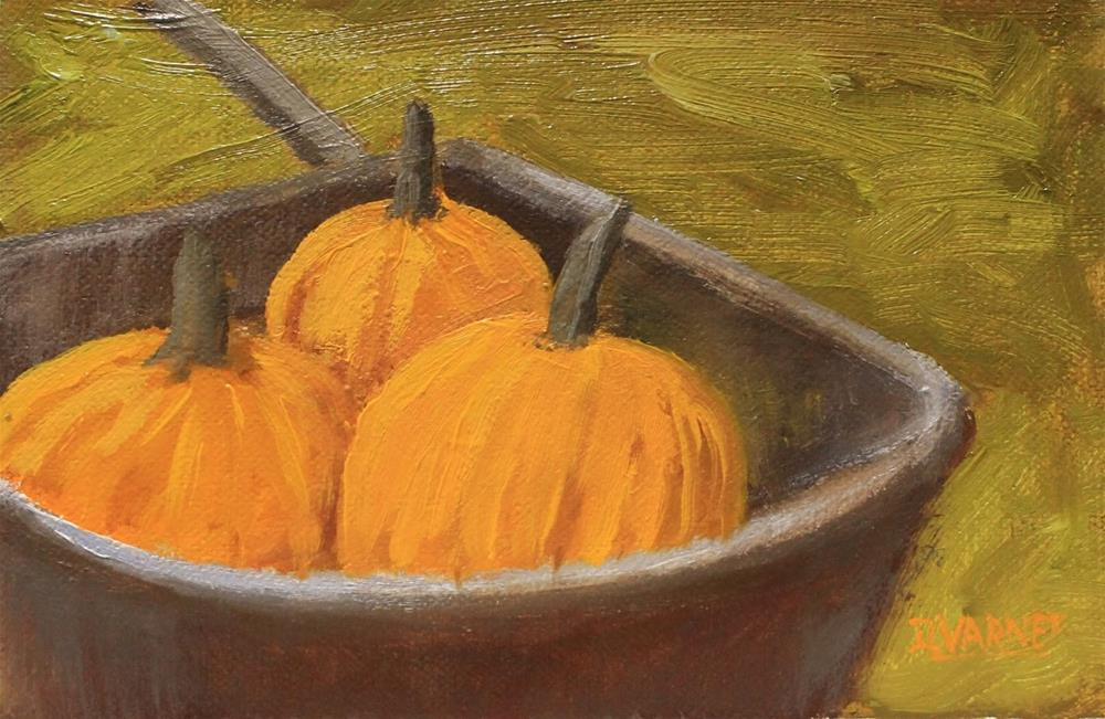 """Pumpkin Harvest"" original fine art by Daniel Varney"