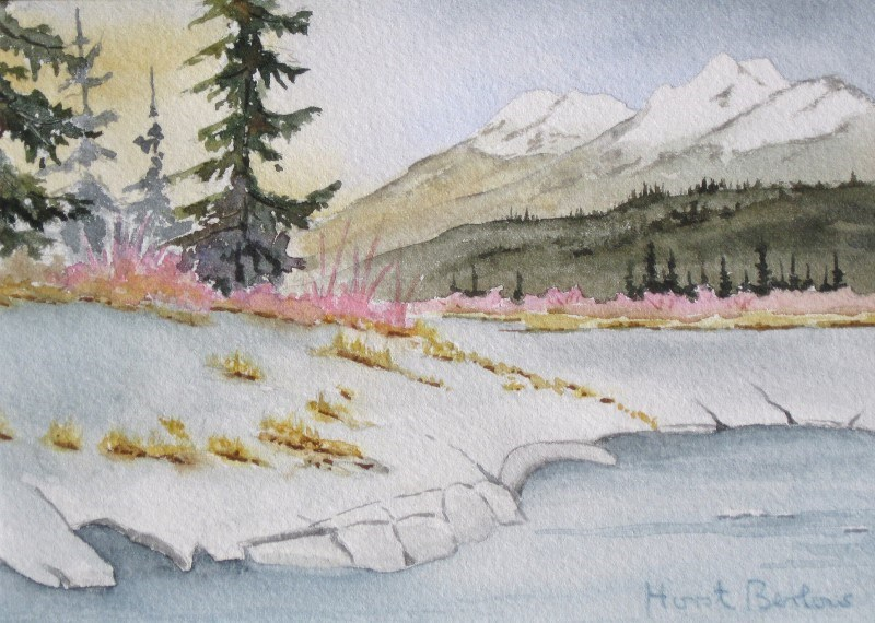 """April in Moose Arm 3"" original fine art by Horst Berlow"