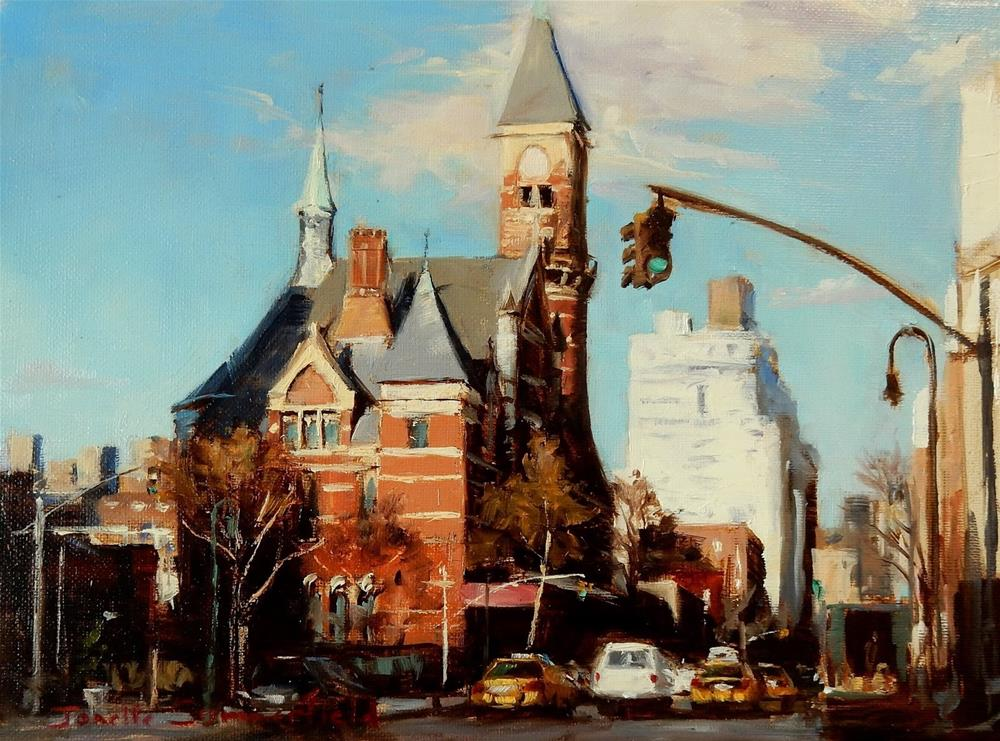 """Jefferson Market Library"" original fine art by Jonelle Summerfield"