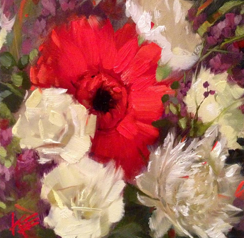 """Gerber Daisy"" original fine art by Krista Eaton"