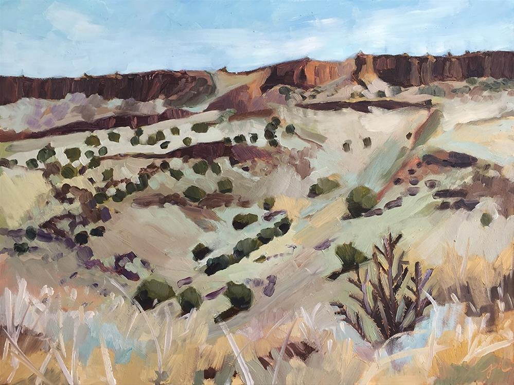 """The Desert Can Be Green"" original fine art by Jessie Dodington"