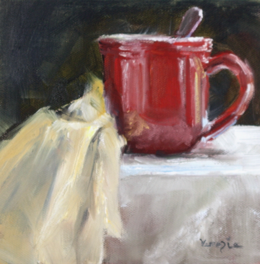 """Red Cup and Napkin"" original fine art by Carrie Venezia"