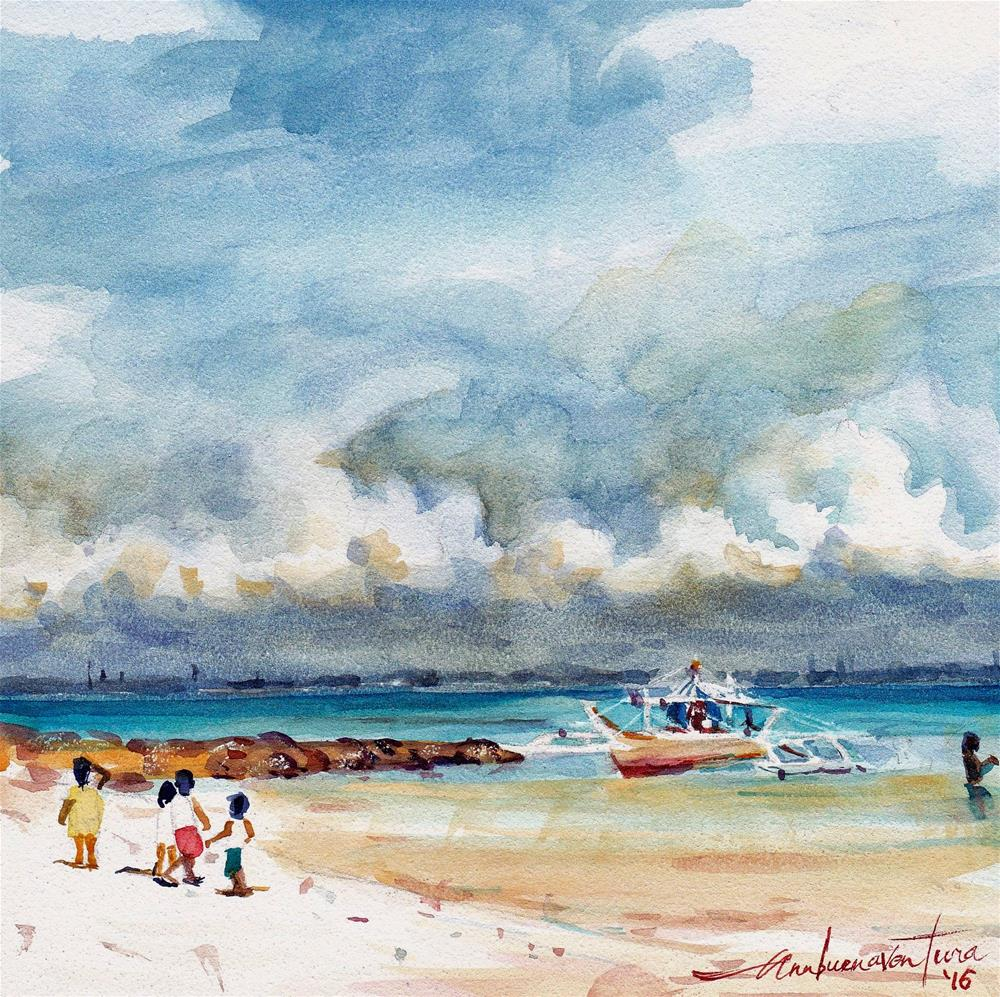 """A Walk on the Beach"" original fine art by Ann Buenaventura"