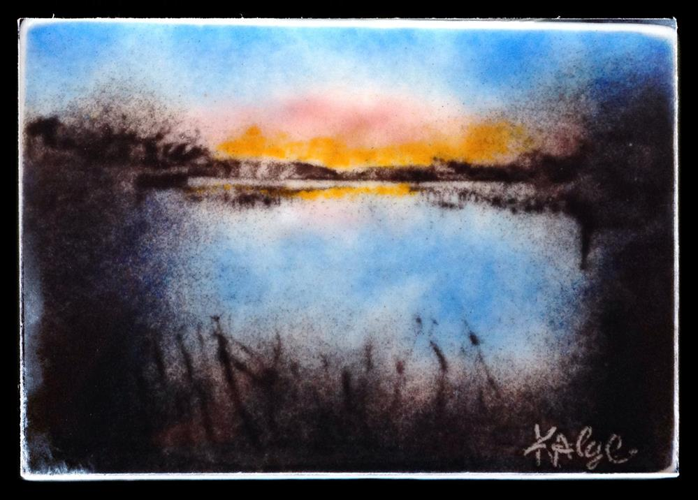 """Glassy Sunrise"" original fine art by Kelly Alge"