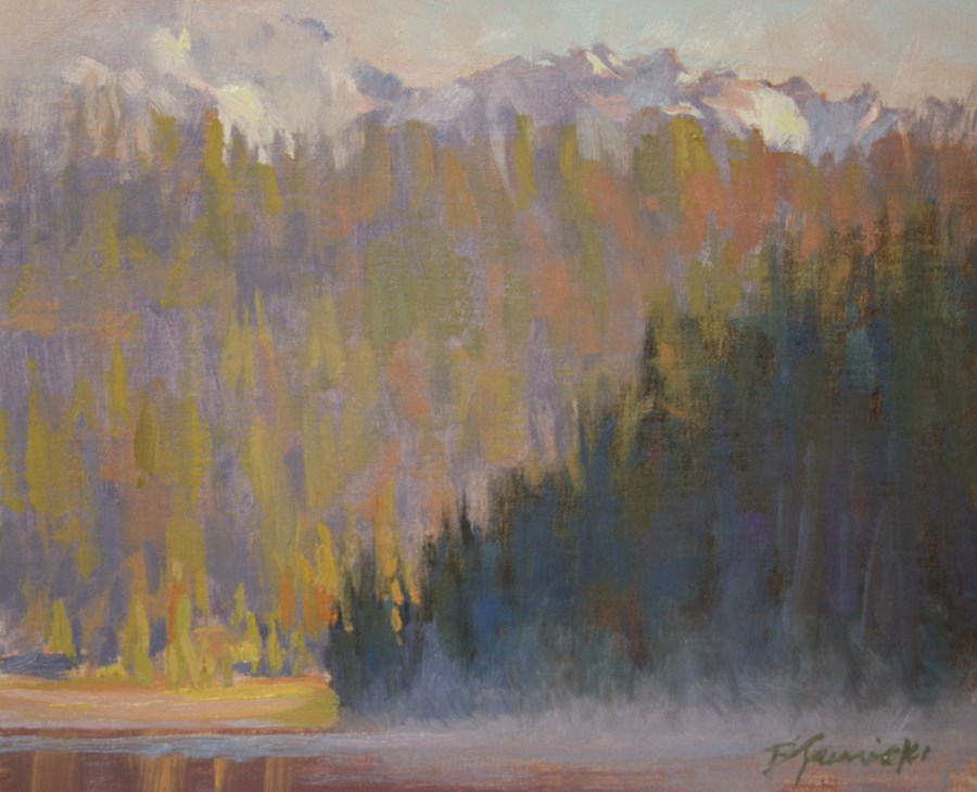 """Morning Mist on Todd Lake"" original fine art by Barbara Jaenicke"