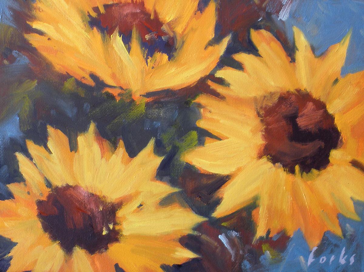 """""""Amor Del Sol"""" original fine art by David Forks"""