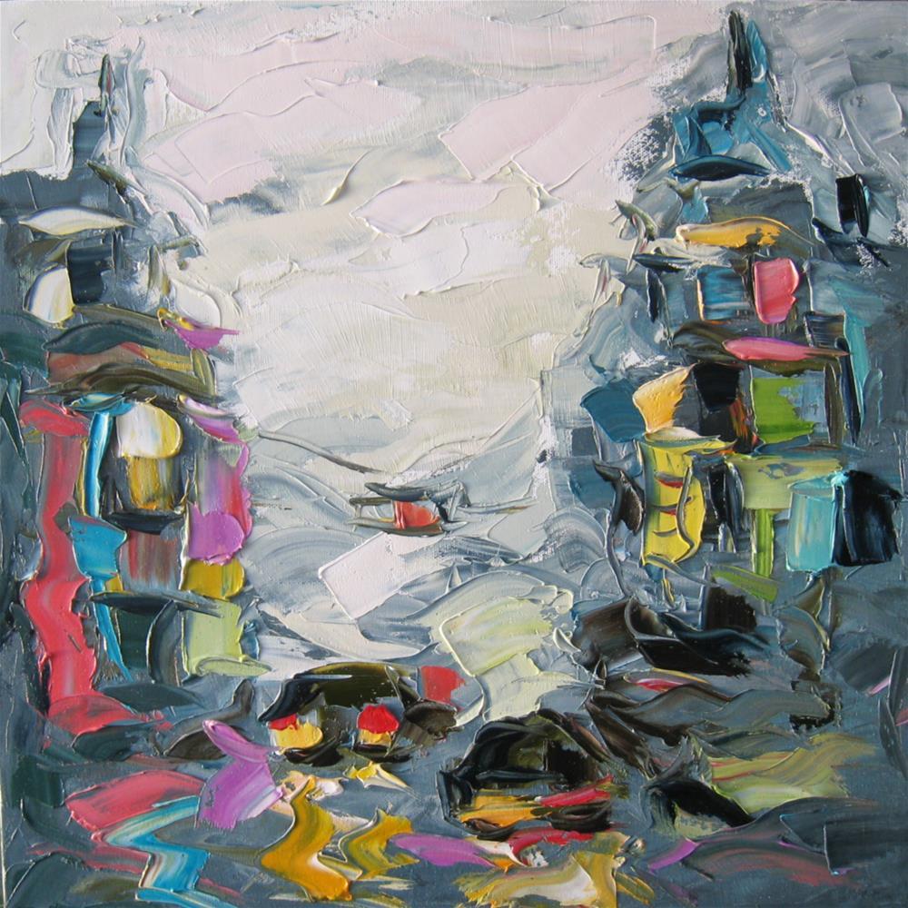 """Rainy morning"" original fine art by Elena Lunetskaya"