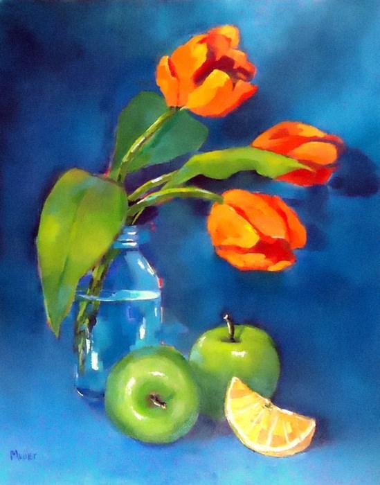 """""""Harmony in Blue"""" original fine art by Laurie Mueller"""
