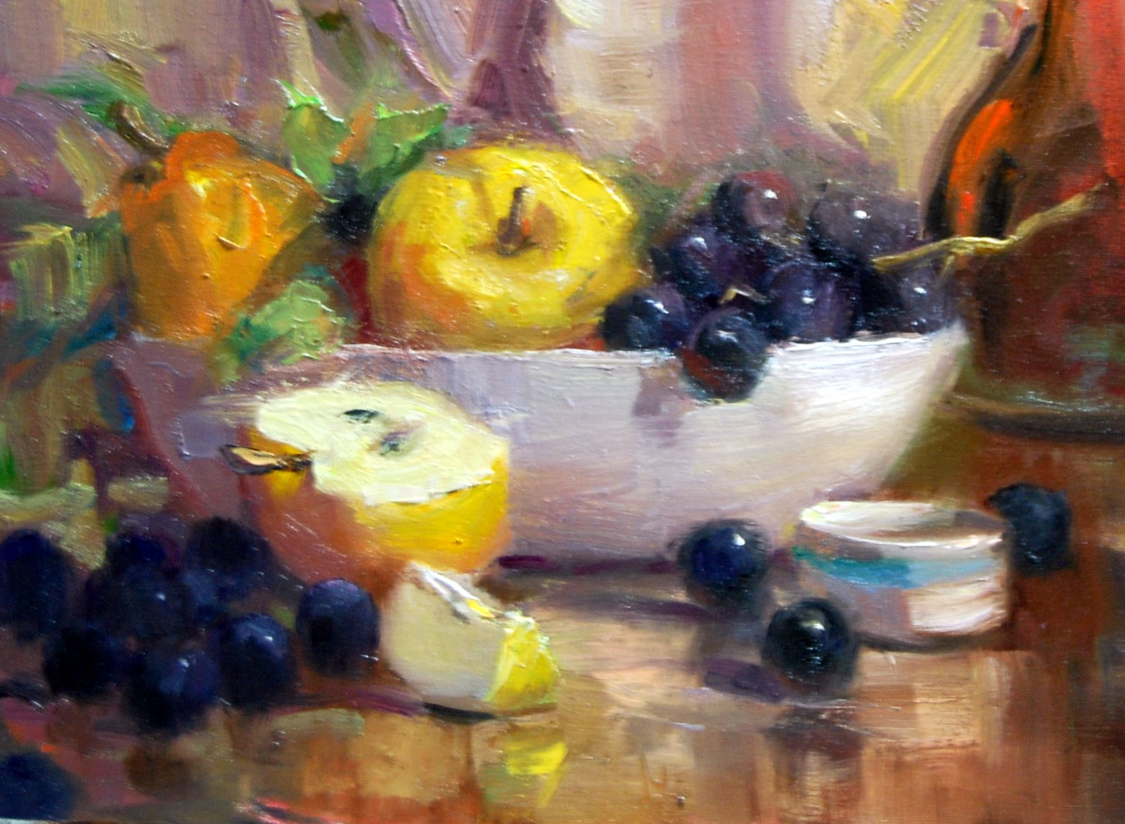 """Fruit Bowl"" original fine art by Julie Ford Oliver"
