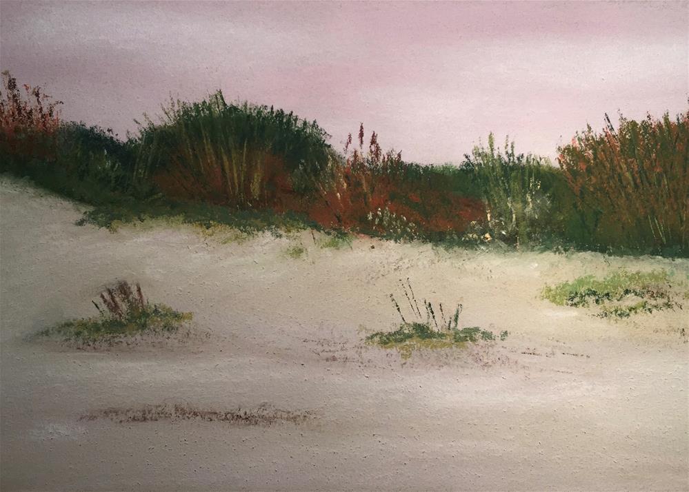 """Study of Sand Dunes # 1 Galveston"" original fine art by Howard Clark"
