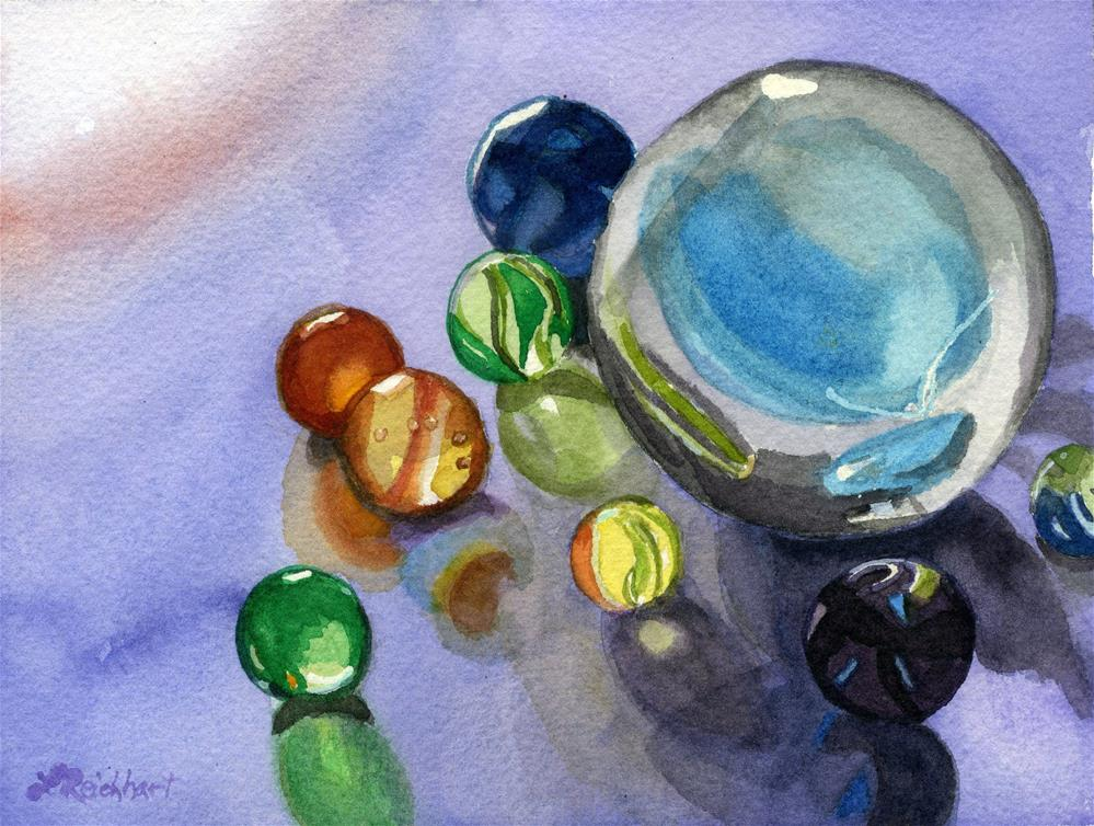 """Found my Marbles"" original fine art by Lynne Reichhart"