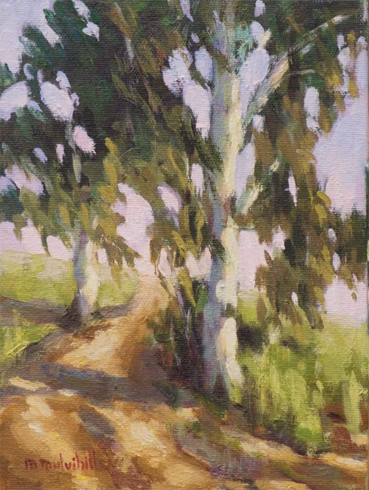 """Eucalyptus Path"" original fine art by Mary Mulvihill"