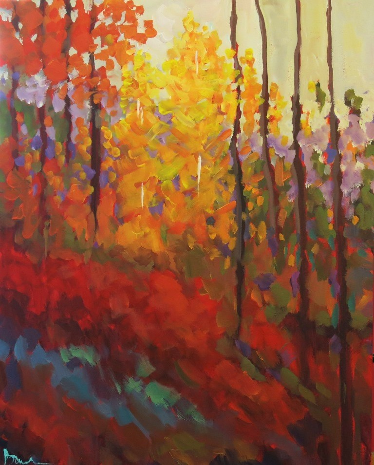 """ALONG THE HILLSIDE"" original fine art by Dee Sanchez"