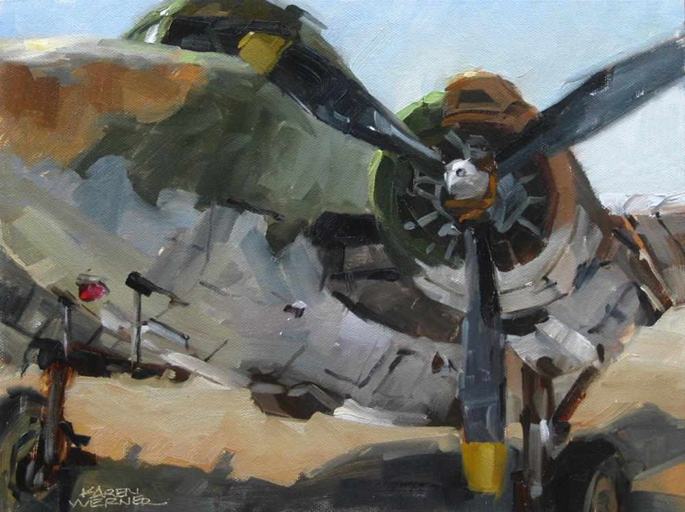 """Lockheed Lodestar"" original fine art by Karen Werner"