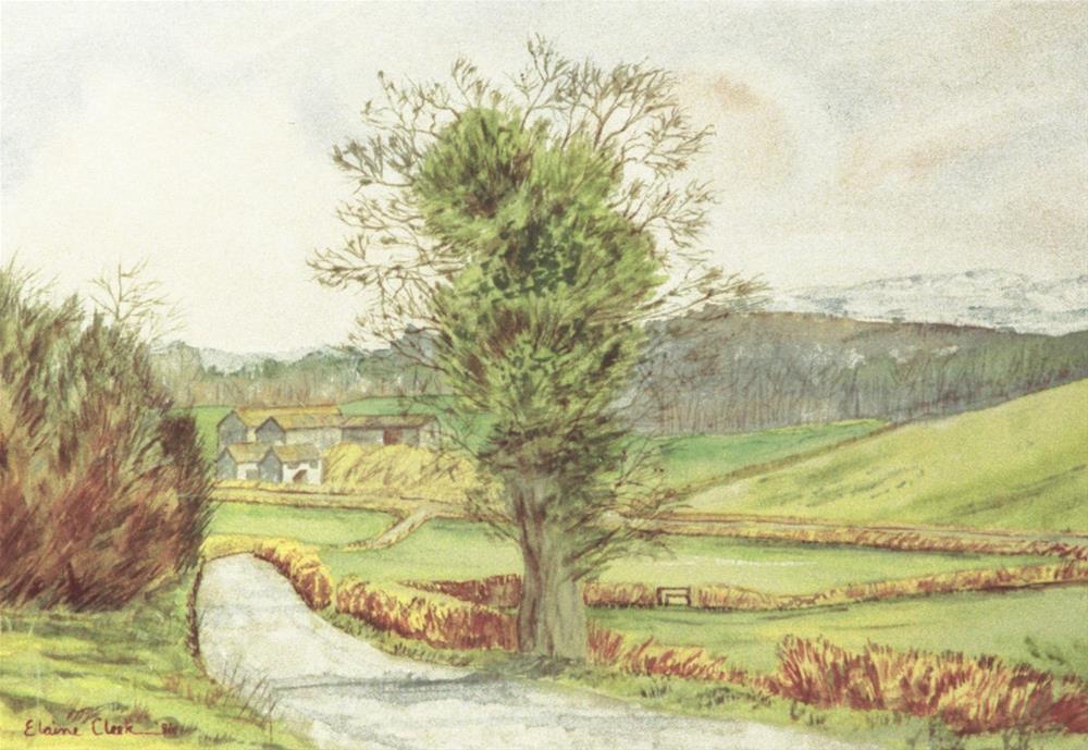 """Buckinghamshire Lane"" original fine art by Elaine Farmer"