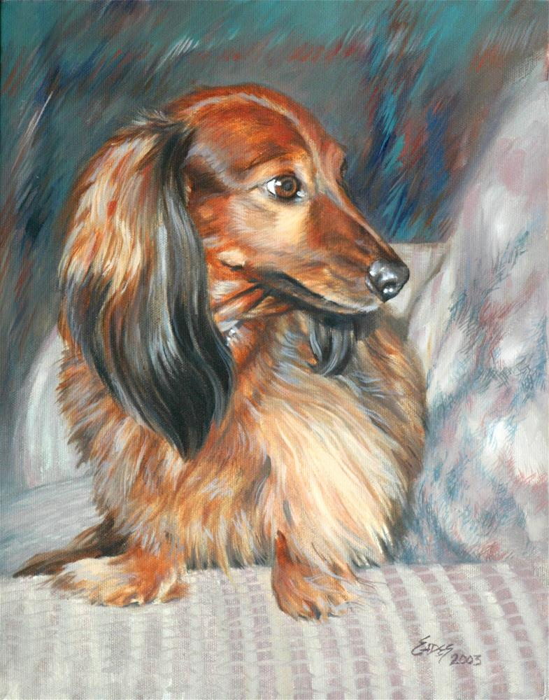 """Cheech"" original fine art by Linda Eades Blackburn"