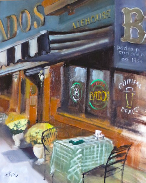 """Bado's"" original fine art by Beth Bathe"