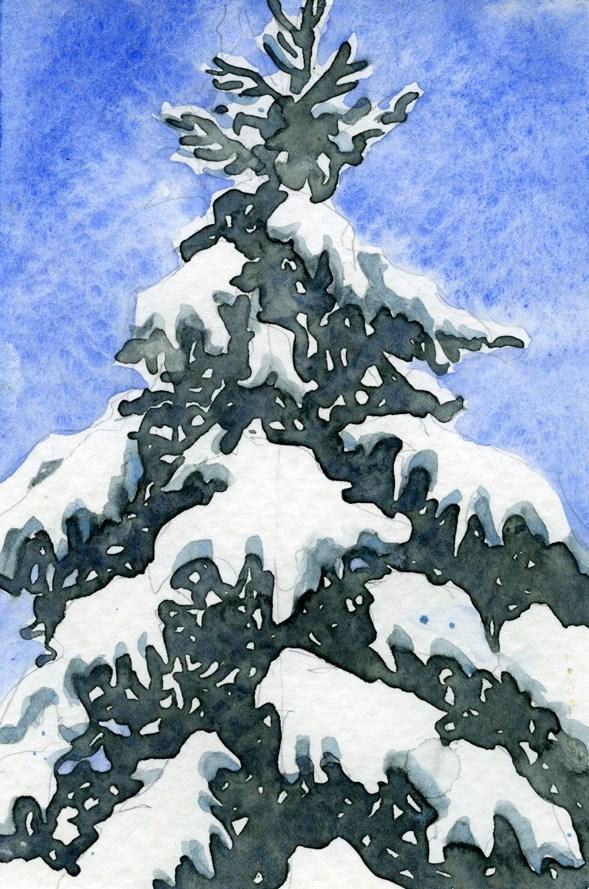 """""""Snow Tree"""" original fine art by Eileen Hennemann"""