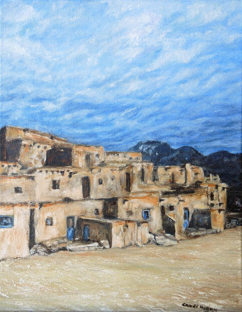 """Taos Pueblo"" original fine art by Candi Hogan"