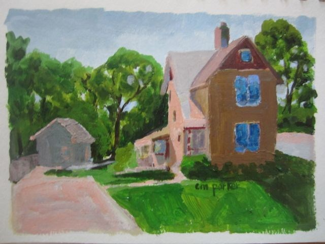 """Loveland Homestead"" original fine art by Christine Parker"