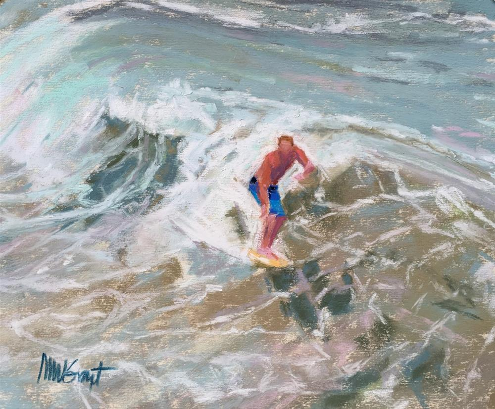 """""""Toes on the Nose"""" original fine art by Michelle Wells Grant"""