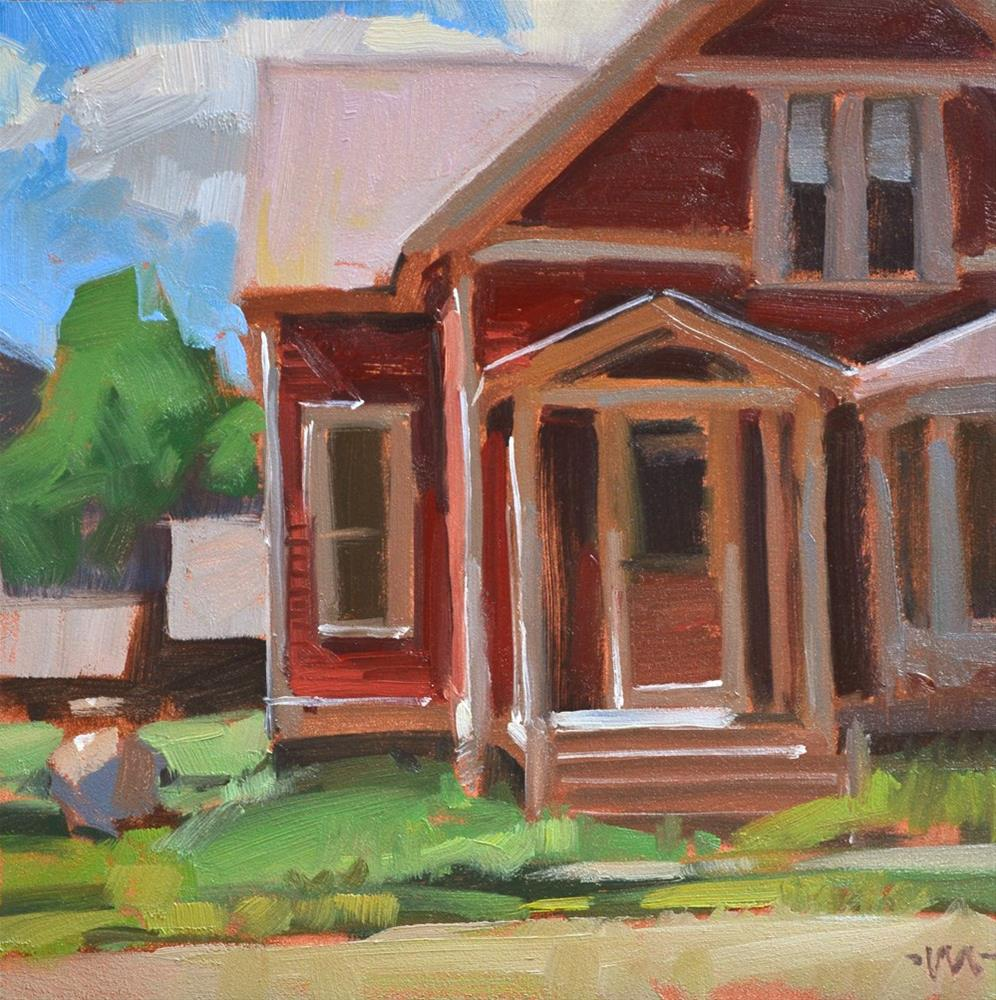 """Pink House 2 Again"" original fine art by Carol Marine"