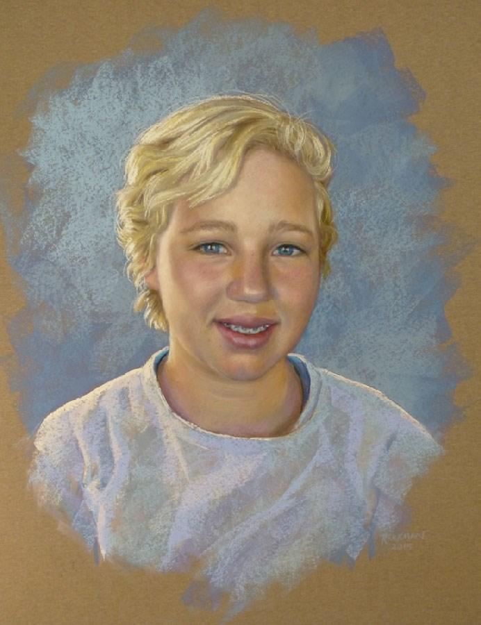 """""""Day 20 - A Pastel Portrait Commission"""" original fine art by Rita Kirkman"""