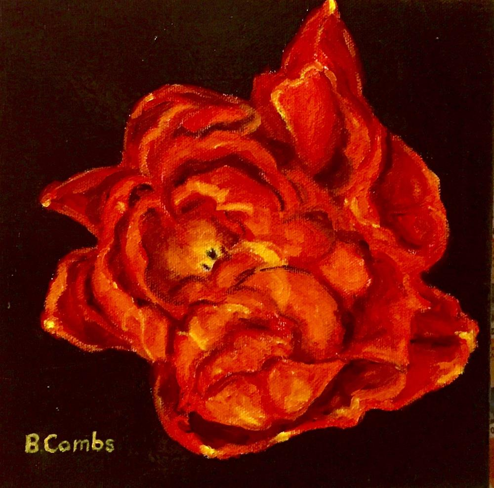 """Flower Fortitude"" original fine art by Bebe Combs"