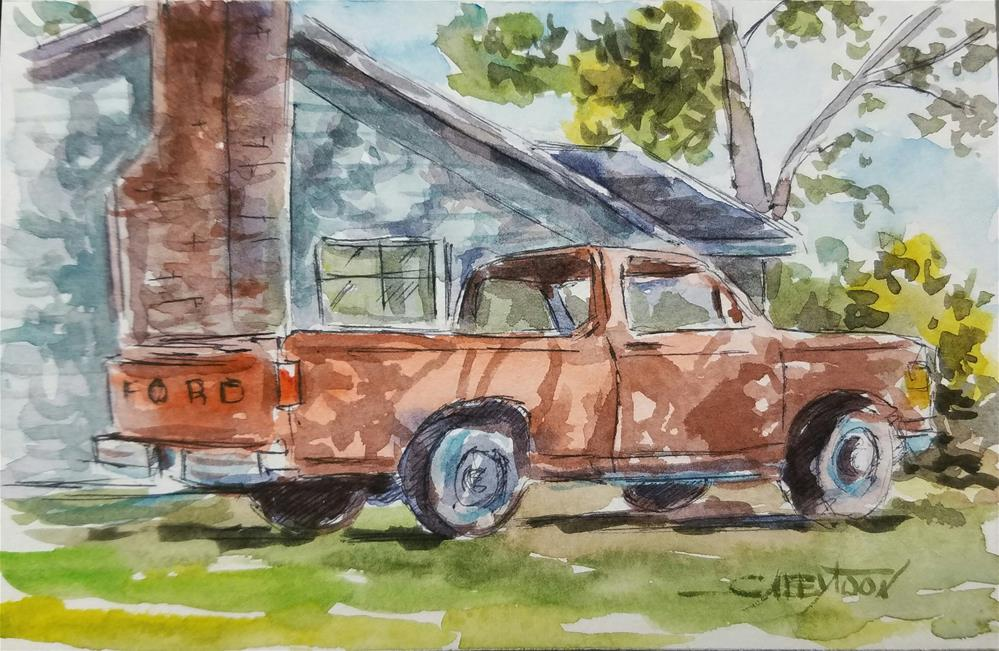 """The Truck"" original fine art by Gabriella DeLamater"