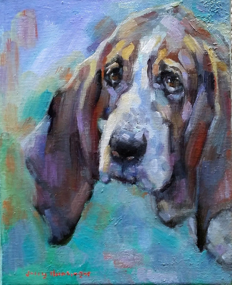 """A Dog Called Happy"" original fine art by jerry hunsinger"