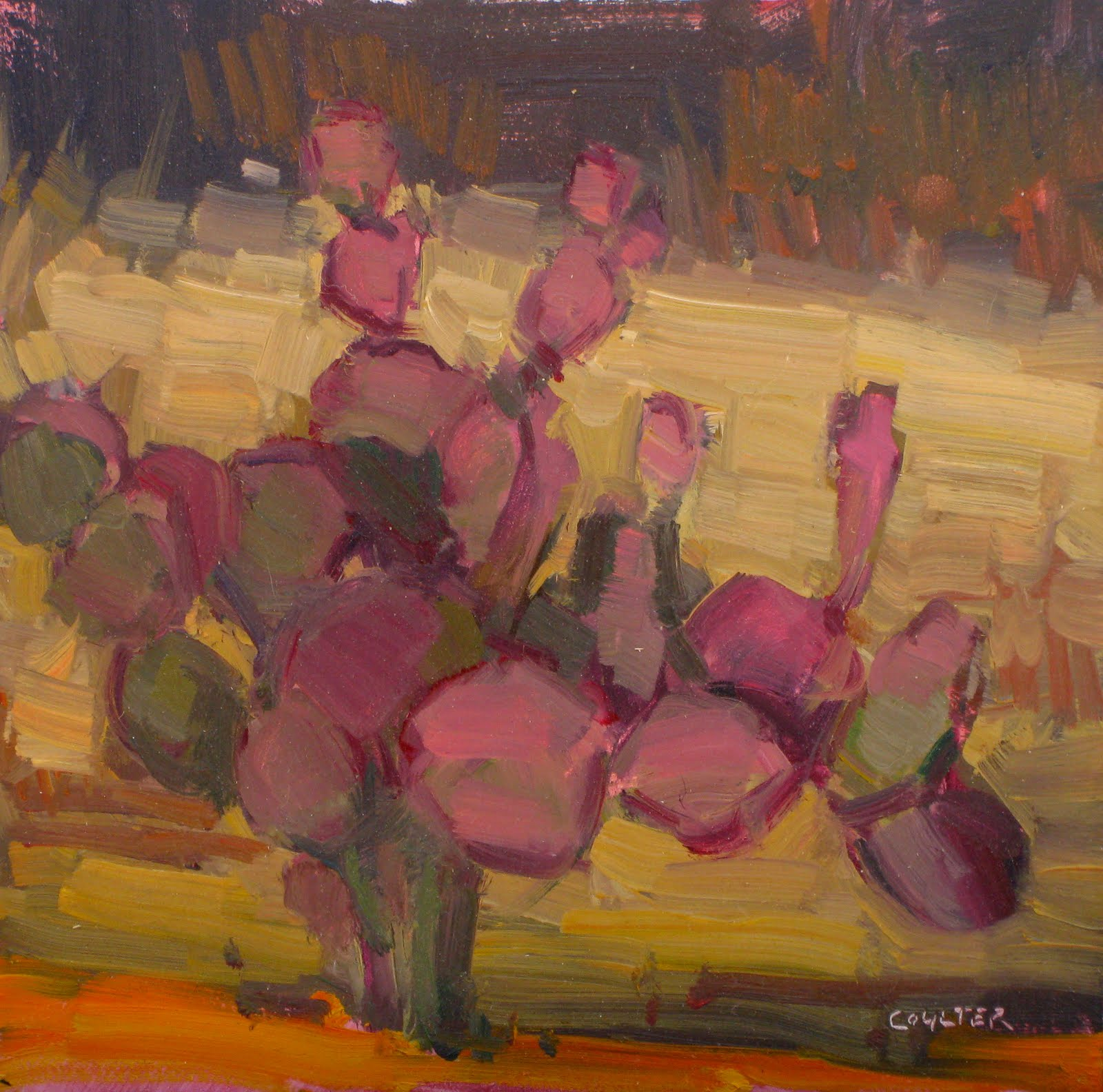 """""""PURPLE PRICKLY"""" original fine art by James Coulter"""