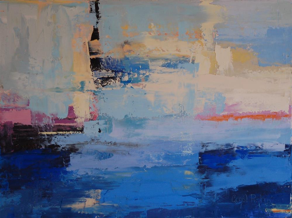 """Beach Blue"" original fine art by Carol Pighin"