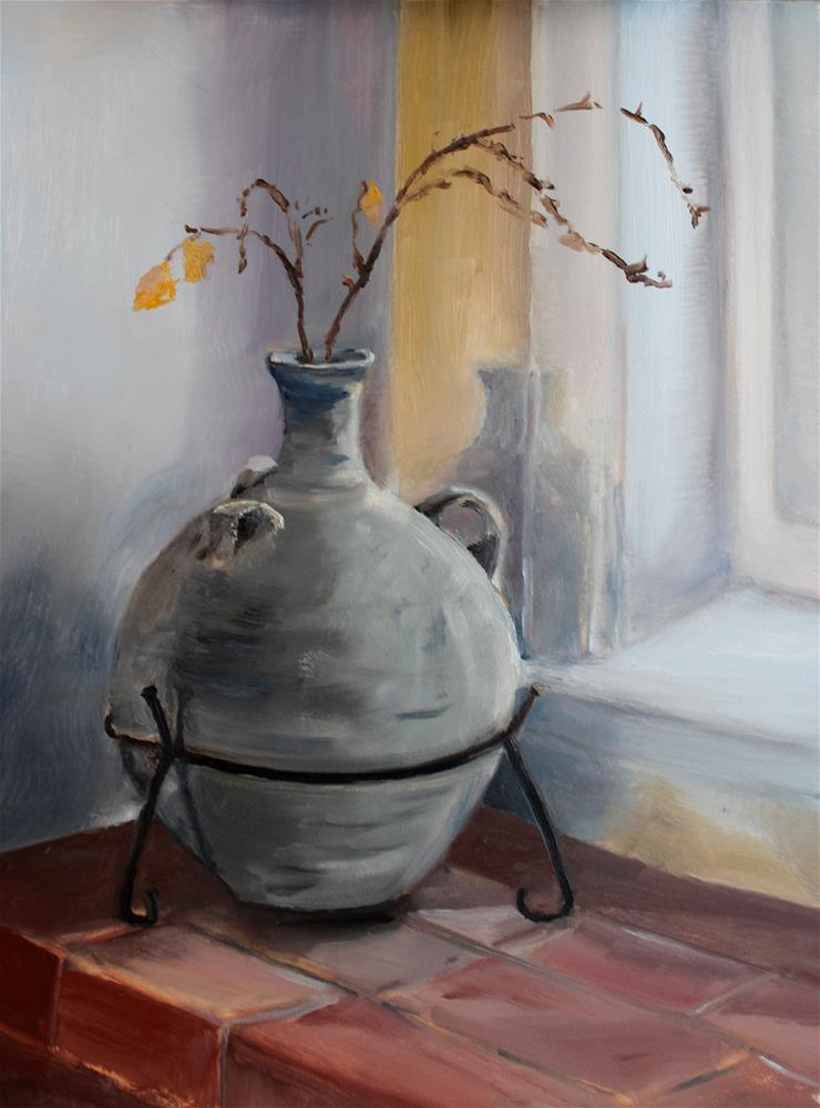 """Jug in Window"" original fine art by Tamsen Armstrong"