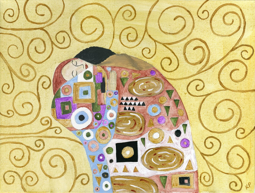 """Embracing my Inner Klimt"" original fine art by Kali Parsons"