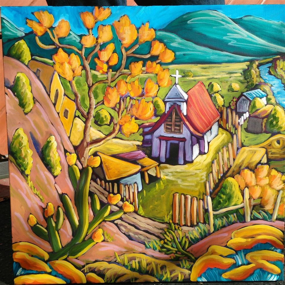 """View to Pilar Church"" original fine art by Robyn Wellman"