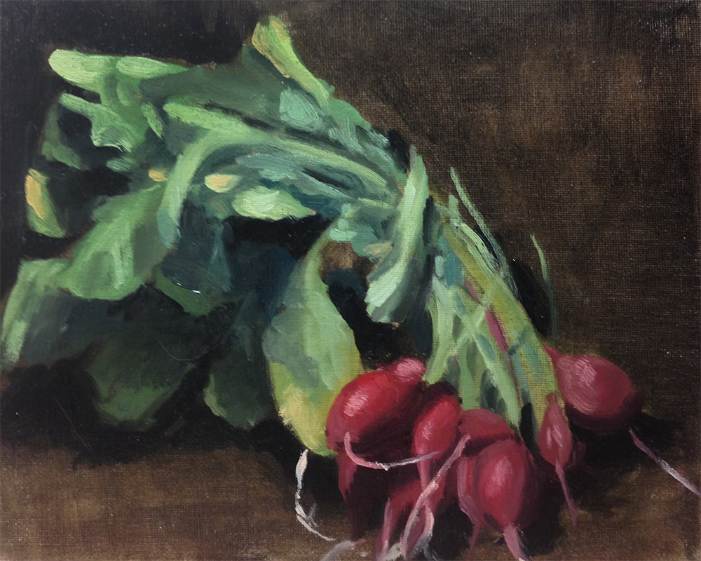 """Radishes"" original fine art by Chris Beaven"