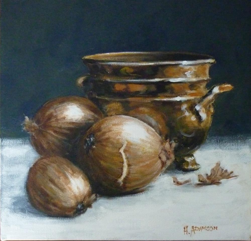 """Brass Tones"" original fine art by Helene Adamson"