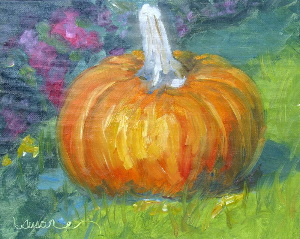 """Autumn Pumpkin"" original fine art by Susan Elizabeth Jones"