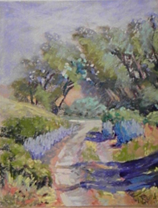"""Along the road"" original fine art by Toby Reid"