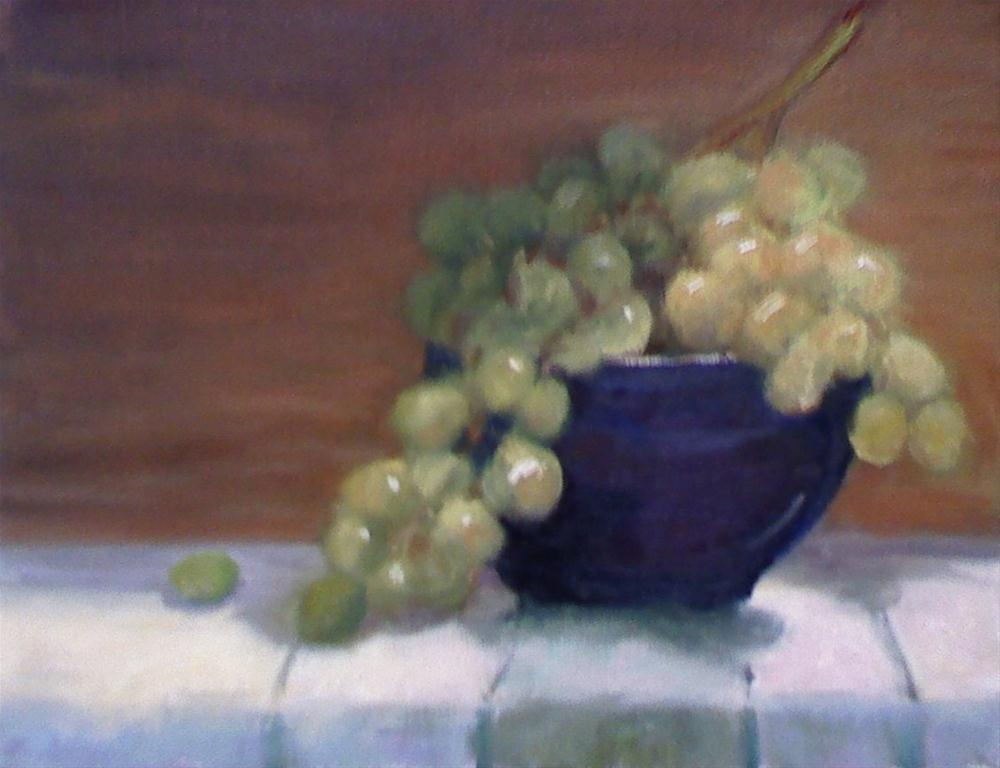 """Green Grapes"" original fine art by Judith Anderson"