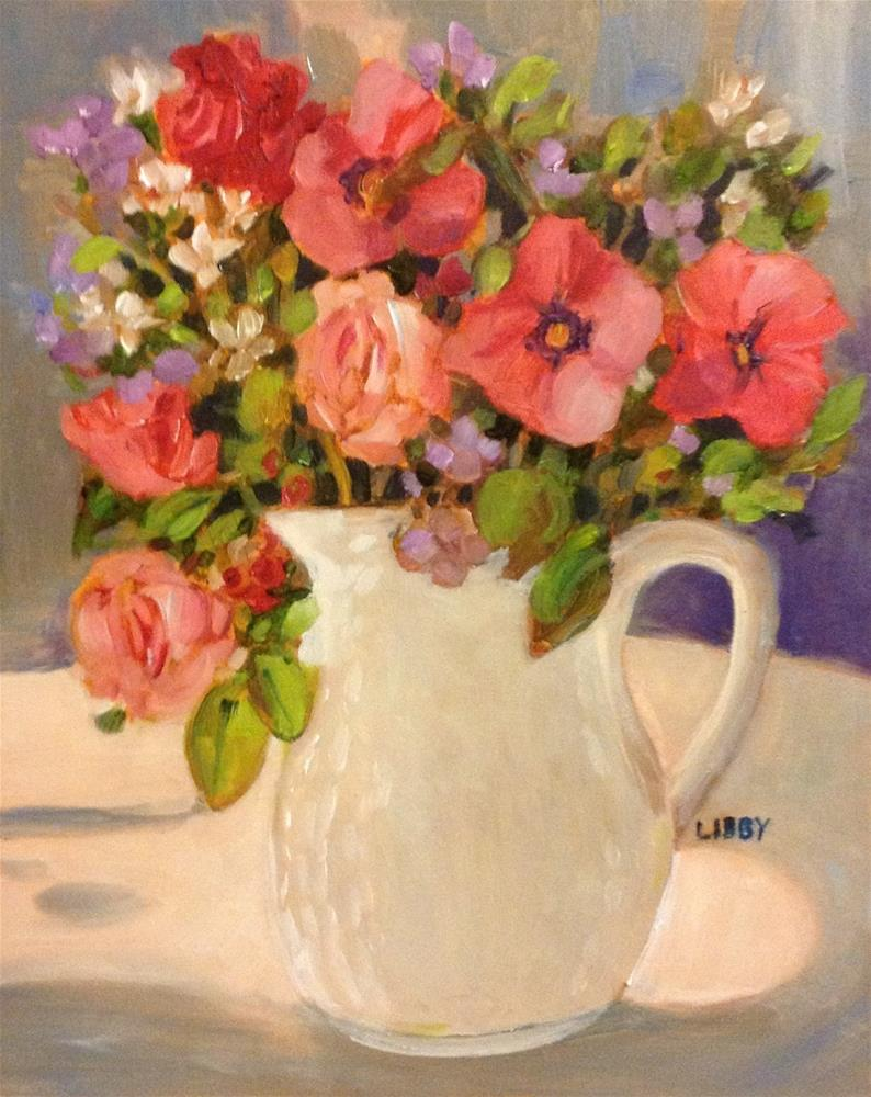 """""""Run for the Roses"""" original fine art by Libby Anderson"""