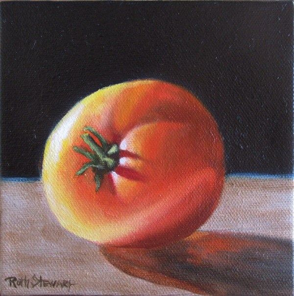 """Little Tomato"" original fine art by Ruth Stewart"