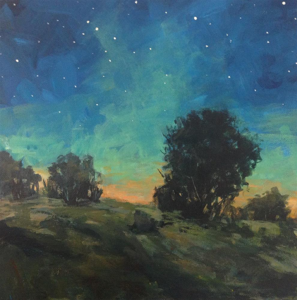 """Green Light Night"" original fine art by Shannon Bauer"